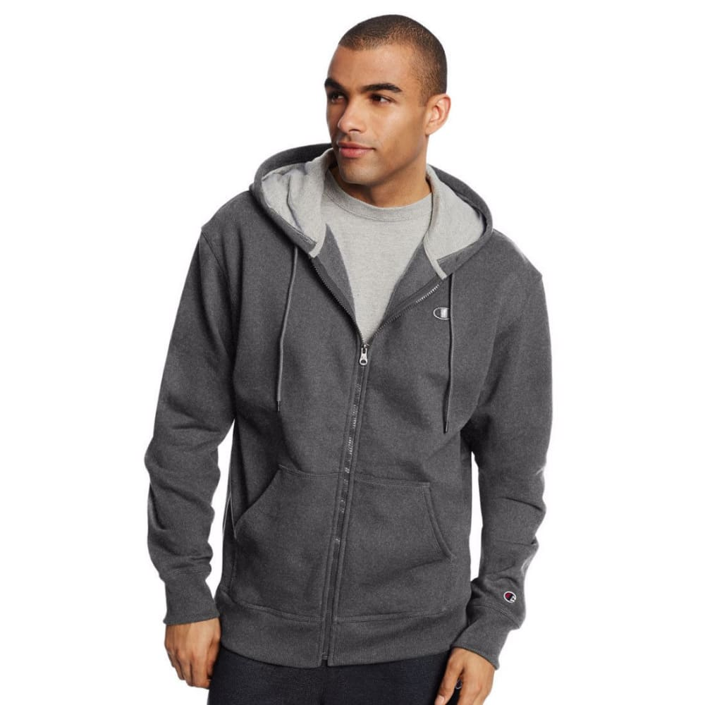 CHAMPION Men's Powerblend Fleece Full-Zip Hoodie M