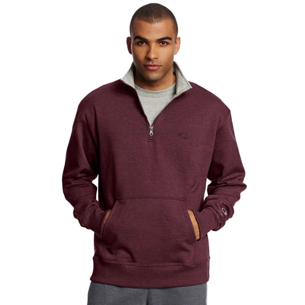 CHAMPION Men's Powerblend Fleece 1/4 Zip Pullover M