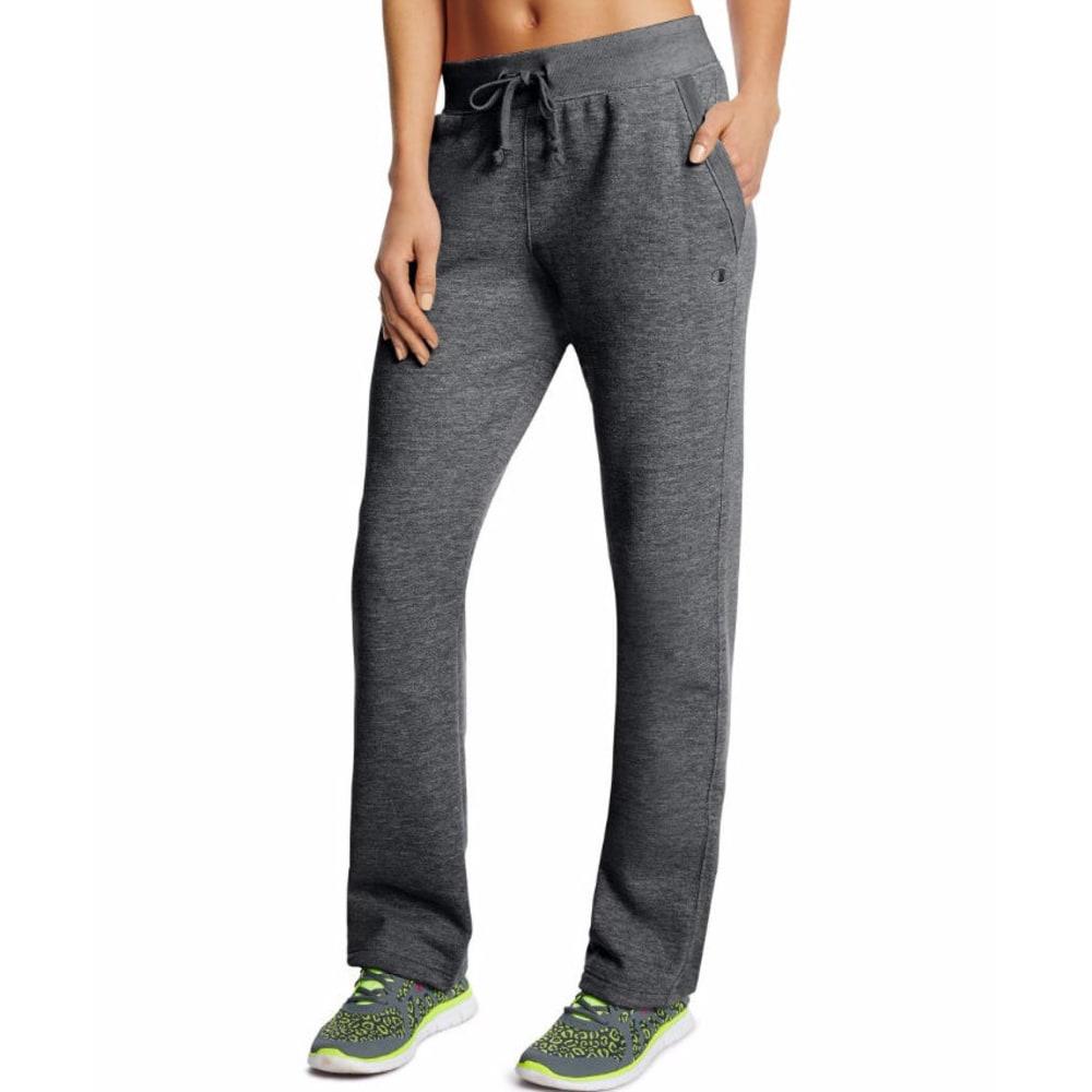 CHAMPION Women's Fleece Open Bottom Pants - GRANITE-G61