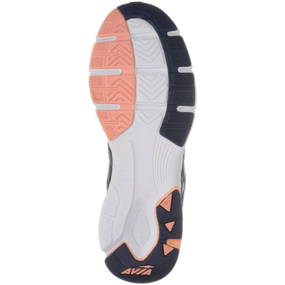 AVIA Women's Avi-Rise Grotto Running Shoes - NAVY/CORAL/SILV/WHT
