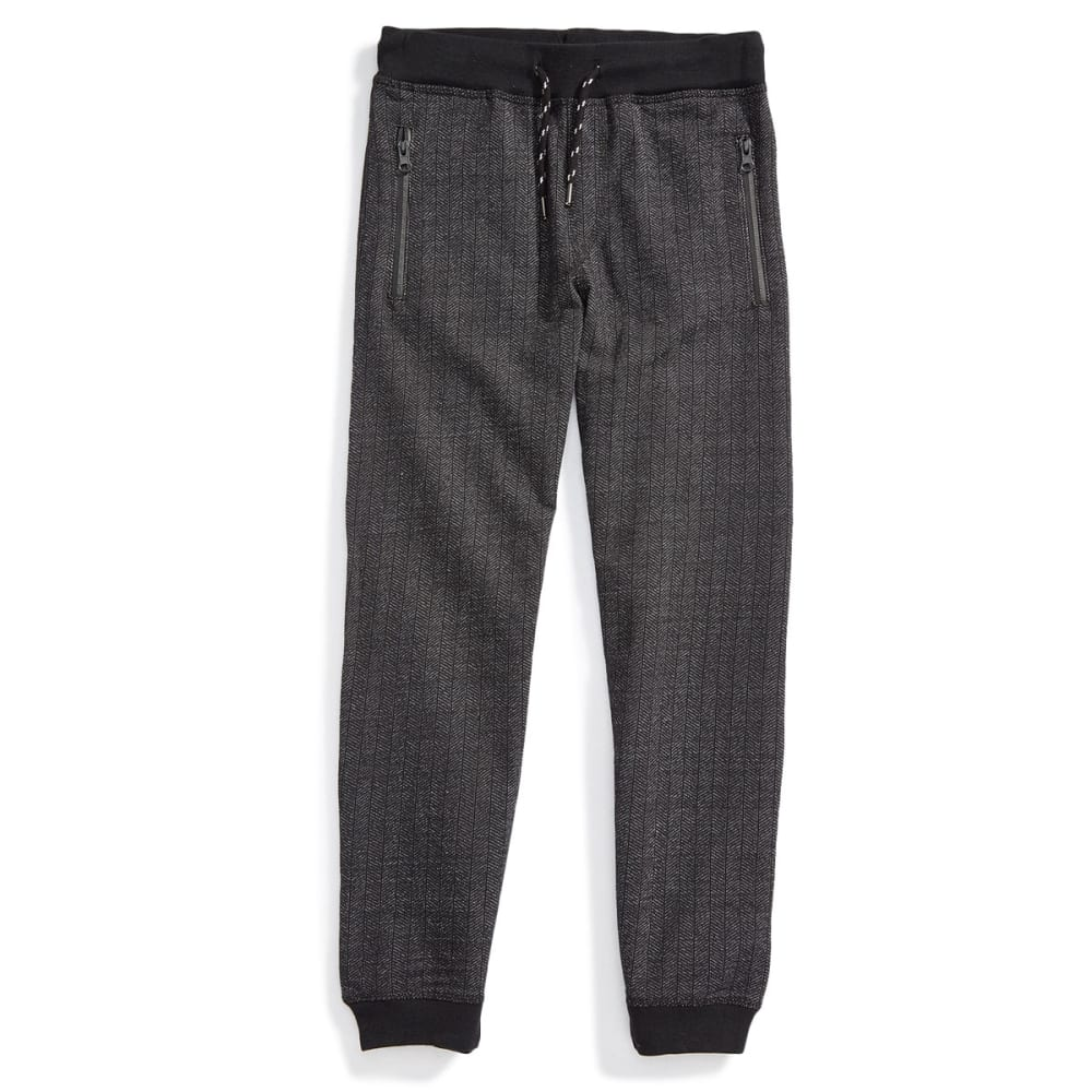 OCEAN CURRENT Boys' Herringbone Fleece Jogger Pants - BLACK