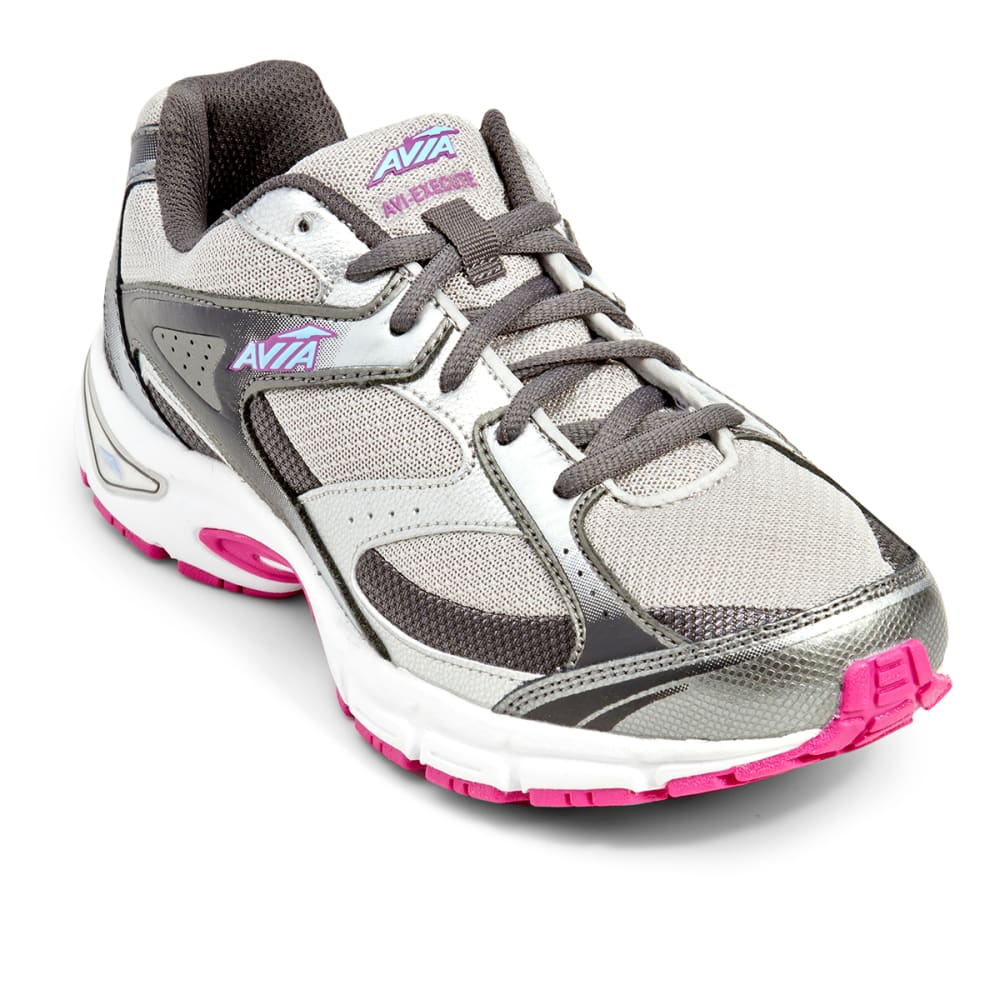 AVIA Women's Avi-Execute Running Shoes - STEELGRY/SILV/ORCHID
