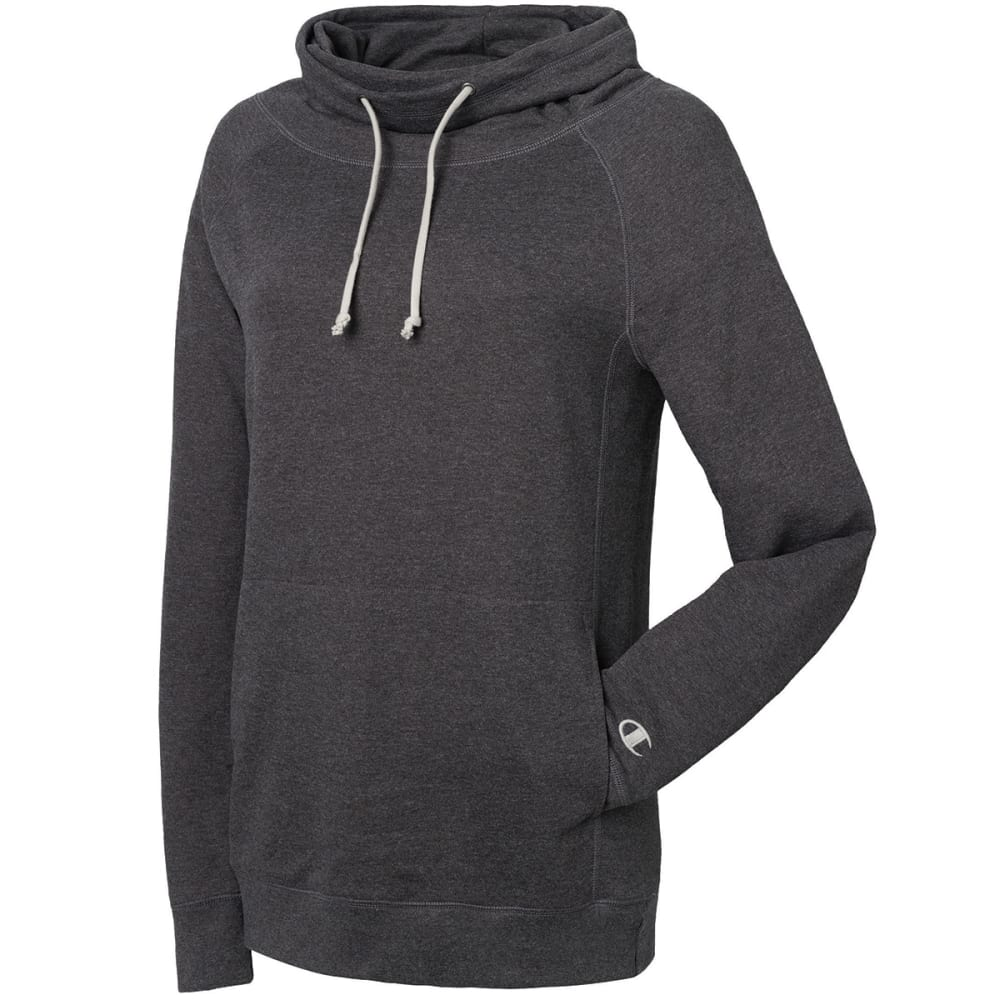CHAMPION Women's French Terry Heather Funnel Neck Top - GRANITE G61