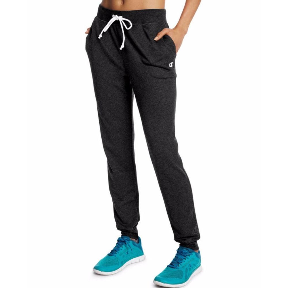 CHAMPION Women's French Terry Jogger Pants - BLACK 001