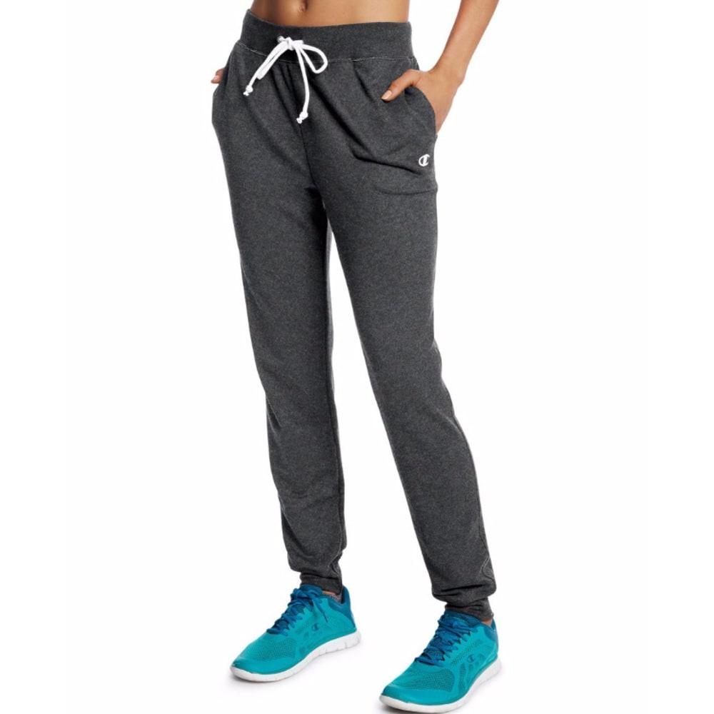 CHAMPION Women's French Terry Jogger Pants - GRANITE G61