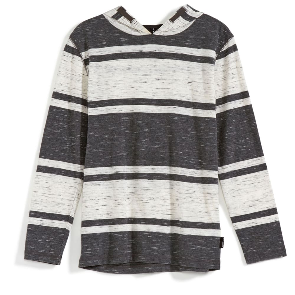OCEAN CURRENT Boys' Wolf Striped Jersey Popover - GUNMETAL HEATHER
