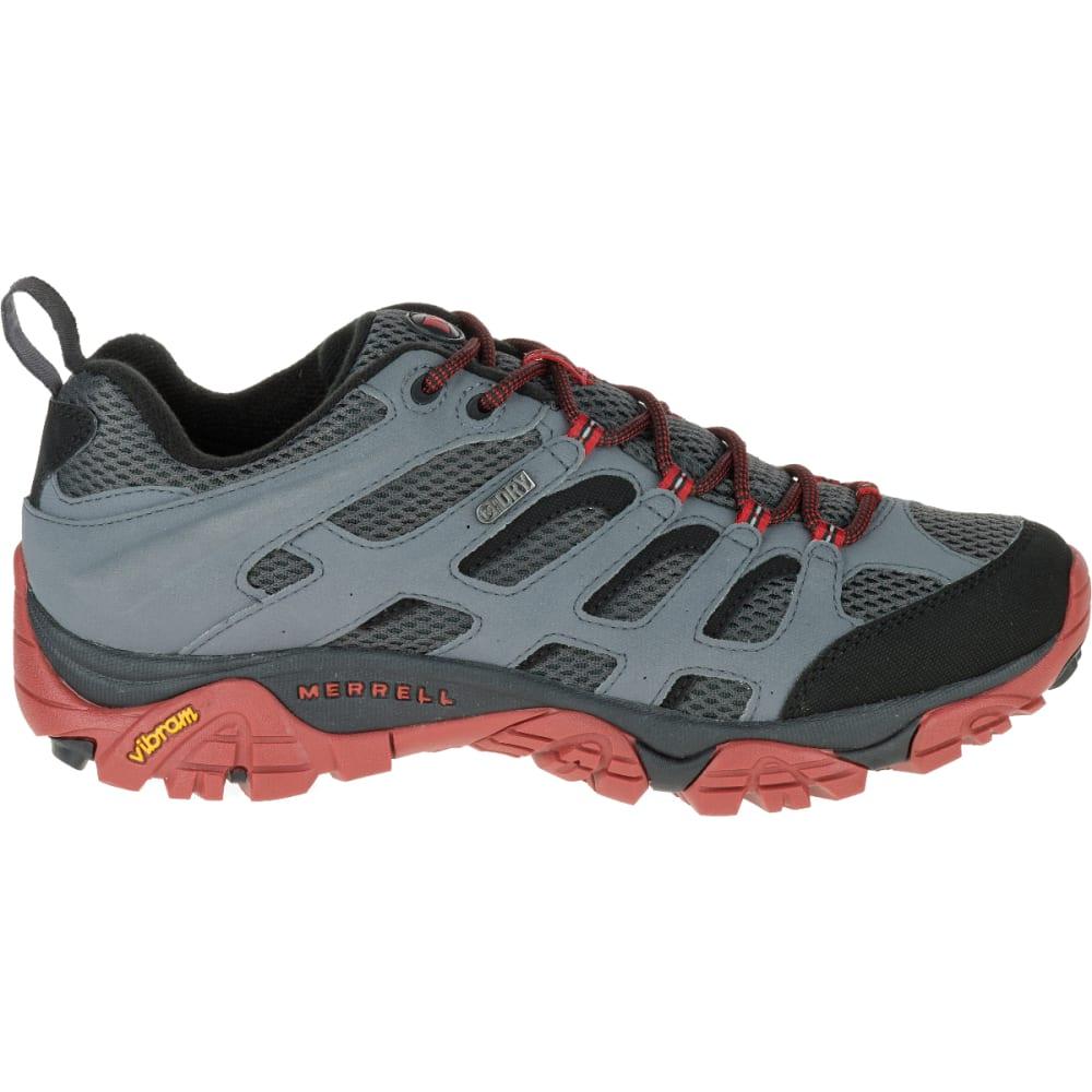 MERRELL Men's Moab Waterproof Hiking Shoe, Castle Rock/Black - CASTLEROCK/BLACK