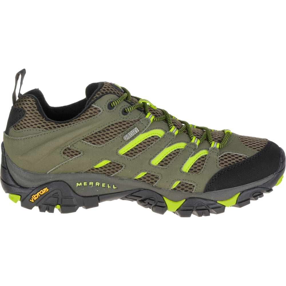 MERRELL Men's Moab Waterproof Hiking Shoe, Dusty Olive/Black - DUSTY OLIVE/BLACK