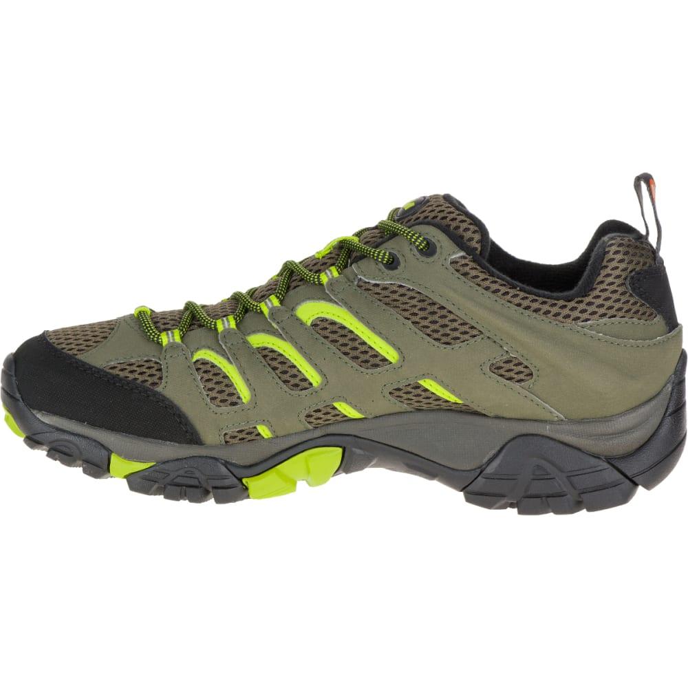 MERRELL Men's Moab Waterproof Hiking Shoe, Dusty Olive/Black - DUSTY OLIVE/BLACK