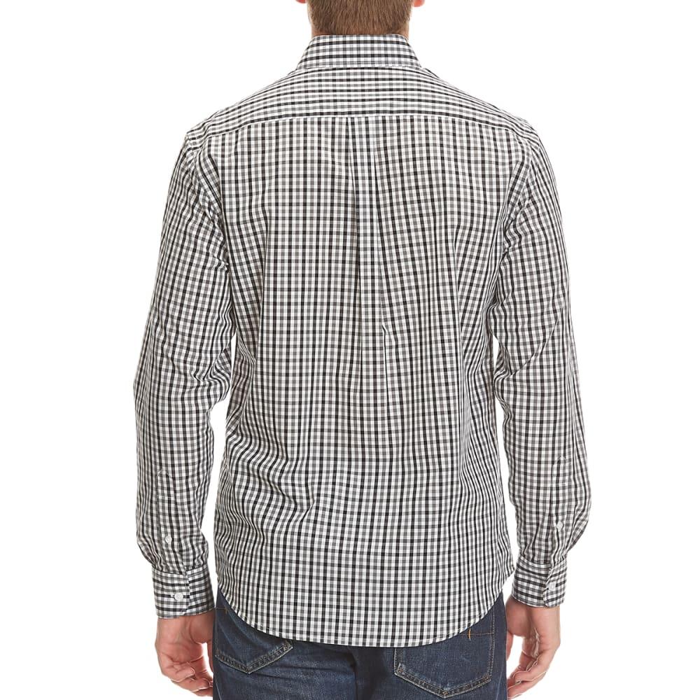 DOCKERS Men's Mini Check Woven Button-Down Shirt - 8007-BURMA GREY