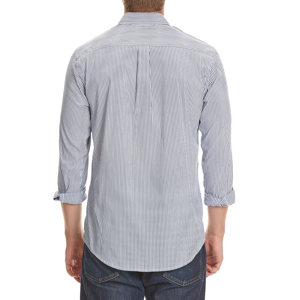 DOCKERS Men's Comfort Striped Woven Shirt - 8427-MEDIEVAL BLUE
