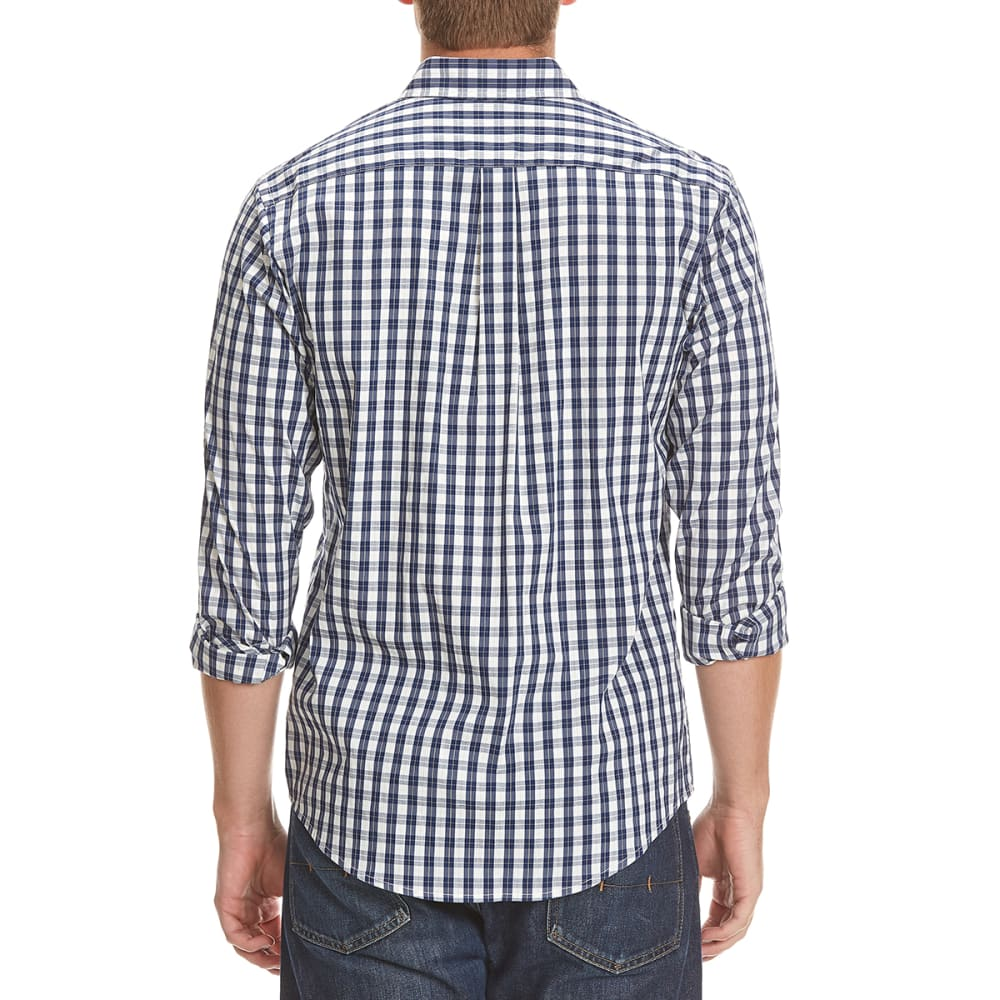 DOCKERS Men's Comfort Mini-Plaid Woven Shirt - 8427-MEDIEVAL BLUE