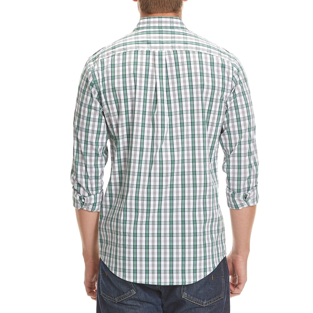 DOCKERS Men's Comfort Box Plaid Woven Shirt - 8353-WORN GREEN