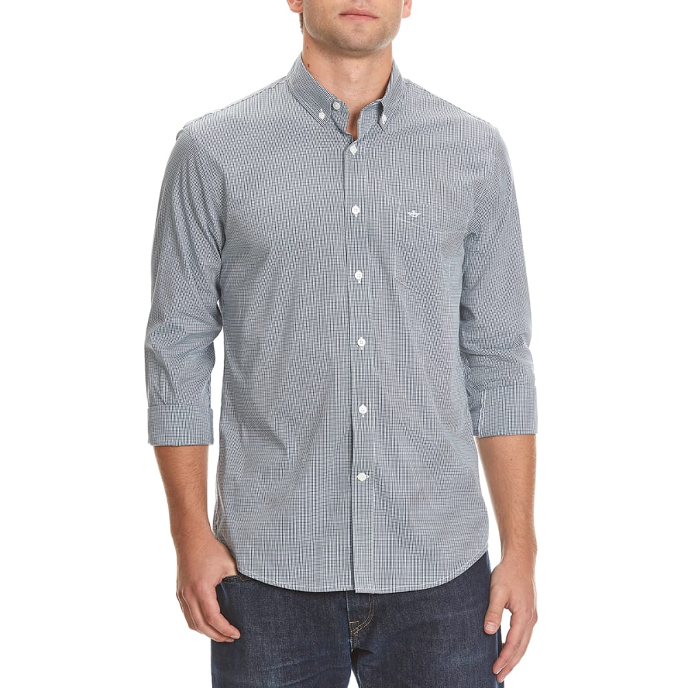 DOCKERS Men's Comfort Gingham Woven Shirt - 8371-DARK FOREST