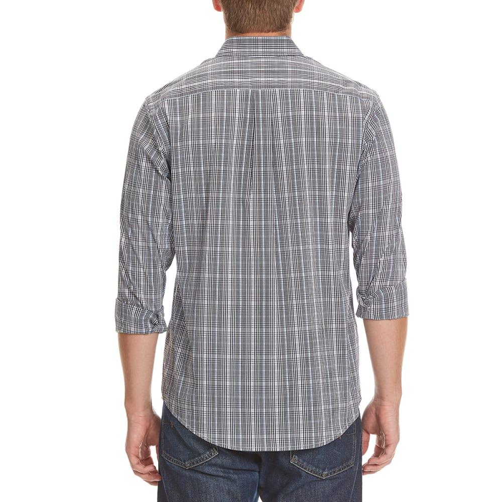 DOCKERS Men's Comfort Plaid Woven Shirt - 8414-DELLA ROBBIA BL