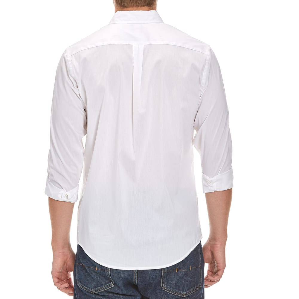 DOCKERS Men's Comfort Solid Woven Shirt - WHITE-8123
