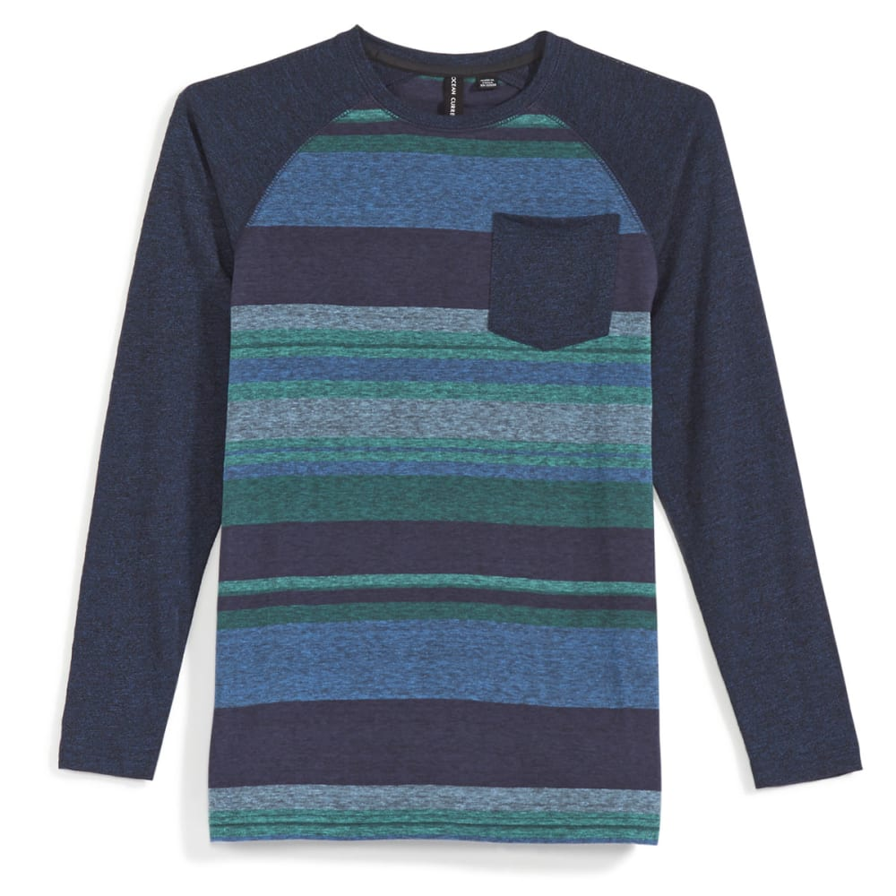 OCEAN CURRENT Boys' Nelson Raglan Long-Sleeve Shirt - INDIGO