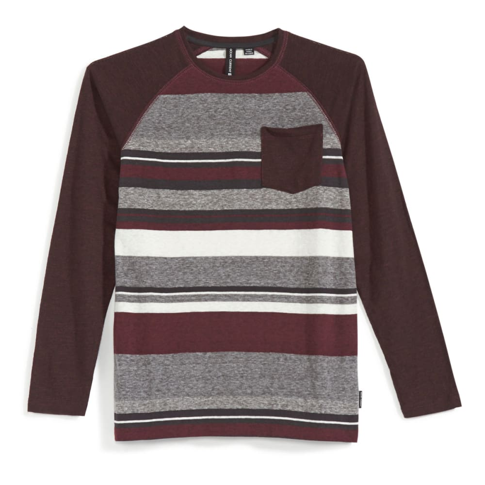 OCEAN CURRENT Boys' Nelson Raglan Long-Sleeve Shirt - DEEP BURGUNDY