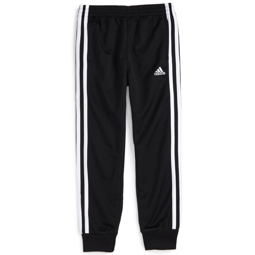 ADIDAS Boys' Tricot Jogger Pants - BLACK/WHITE K01
