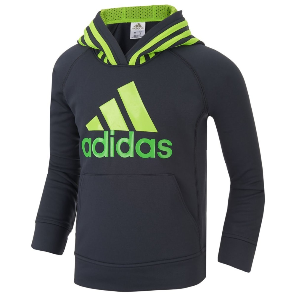 Adidas Boys Performance Logo Pullover Hoodie - Blue, 4
