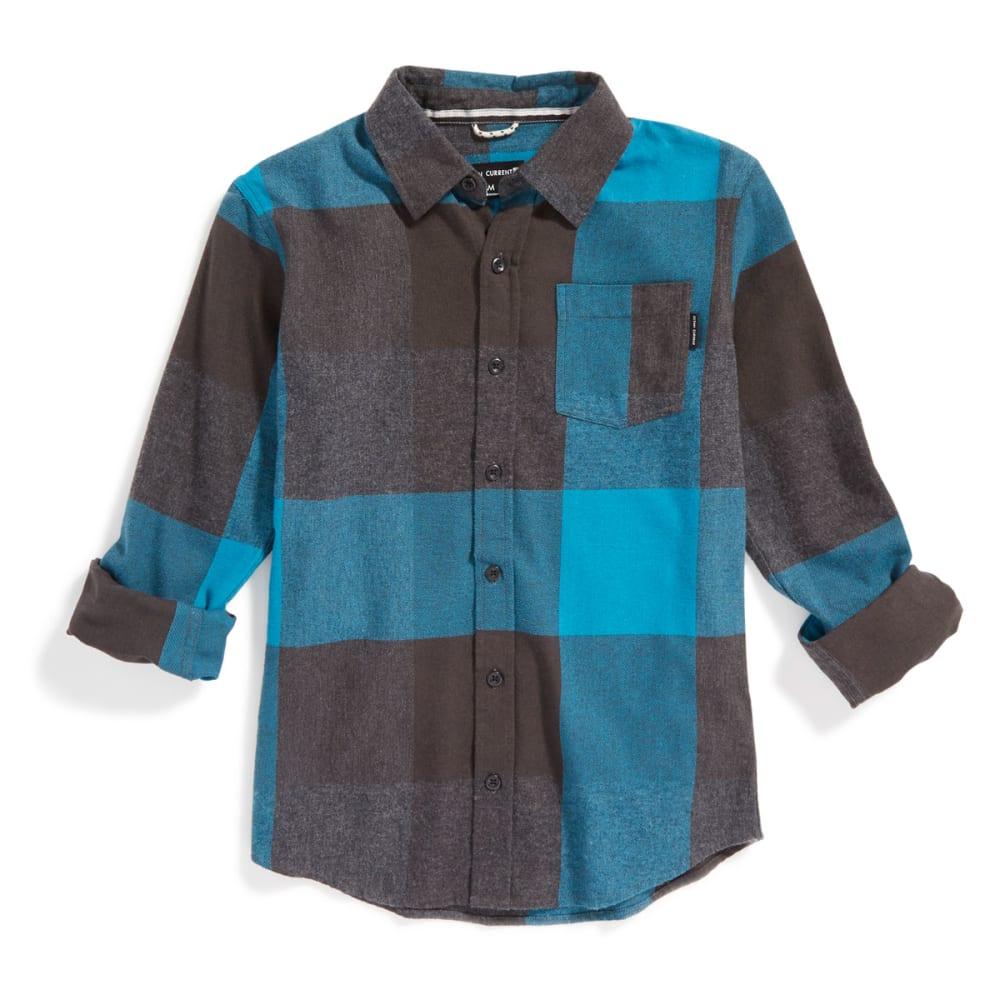 OCEAN CURRENT Boys' Summits Plaid Flannel Shirt - JEDI