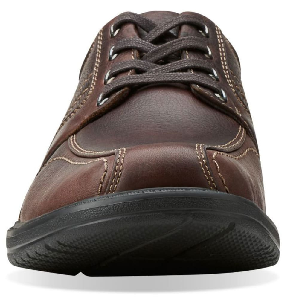 CLARKS Men's Sherwin Limit Oxford Shoes, Wide - BROWN
