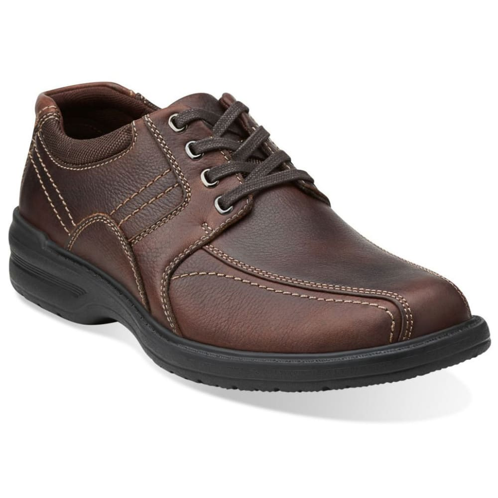 Clarks Men's Sherwin Limit Oxford Shoes, Wide - Brown, 9.5
