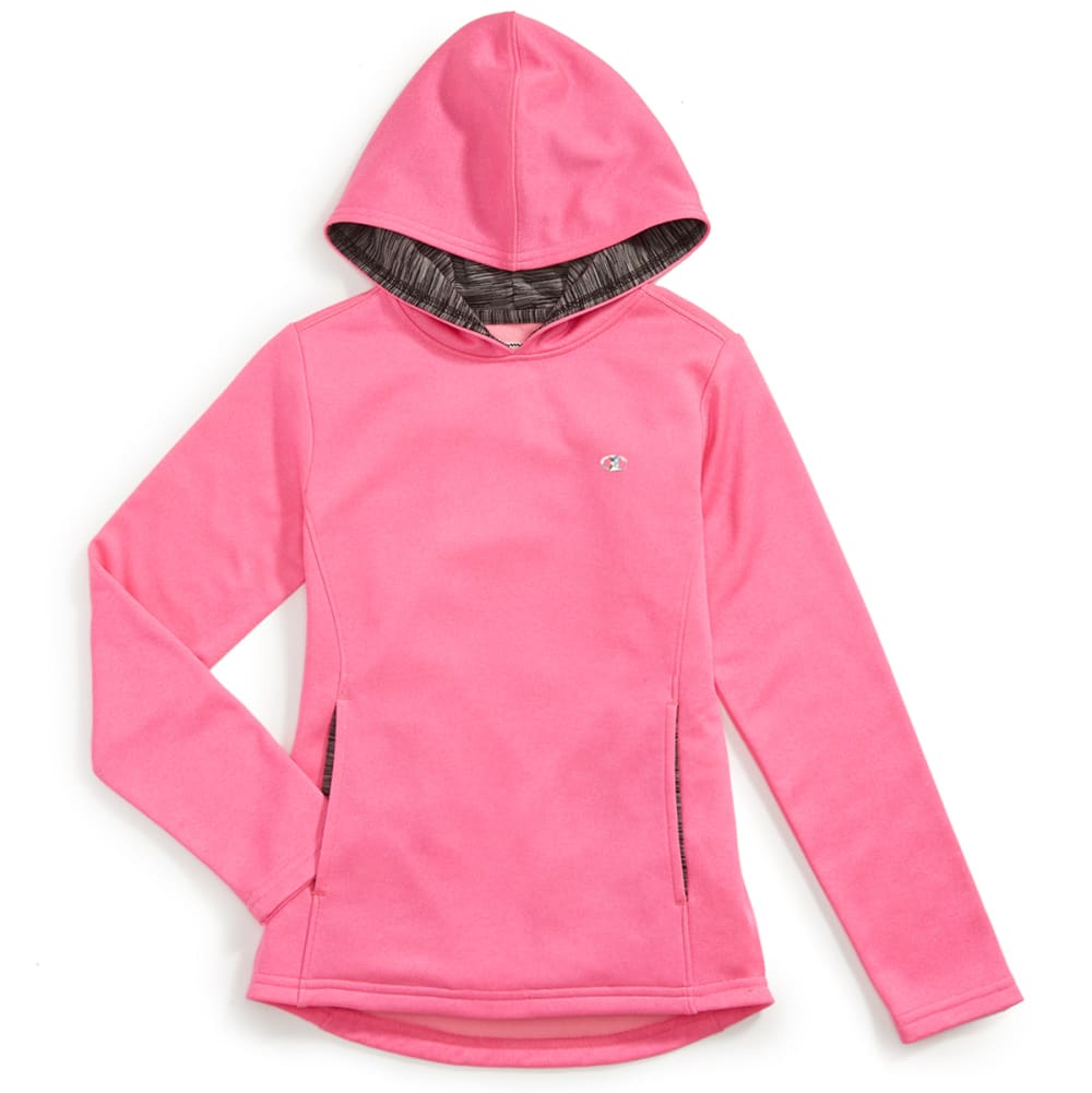 CHAMPION Girls Polyester Fleece Hoodie - PINK G HTHR - PINK