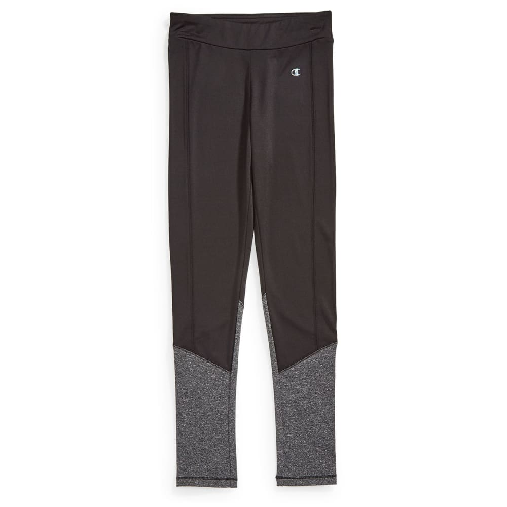 CHAMPION Girls' Color-Block Leggings - BLACK - BLK