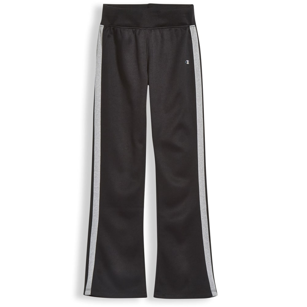 CHAMPION Girls' Fit 'N Flare Fleece Pants - BLACK/GRY - BLK