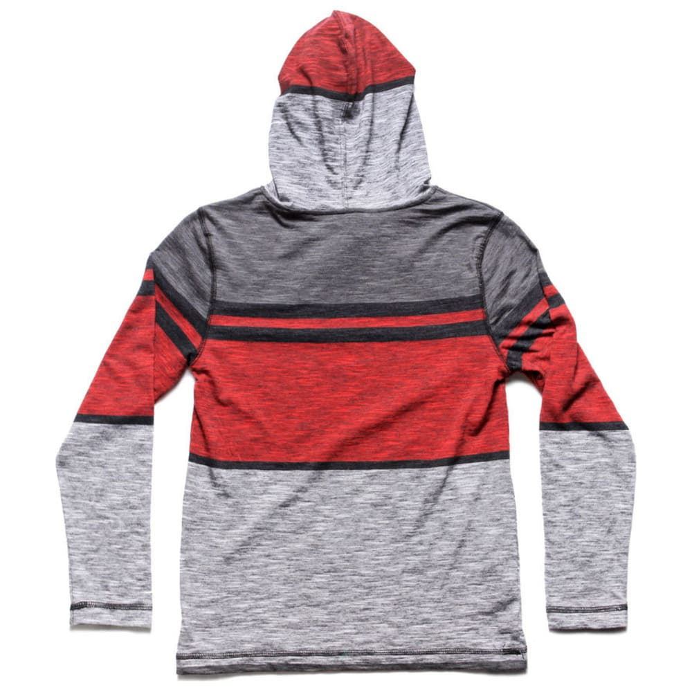 OCEAN CURRENT Boys' Logan Stripe Jersey Popover Hoody - NEW RED