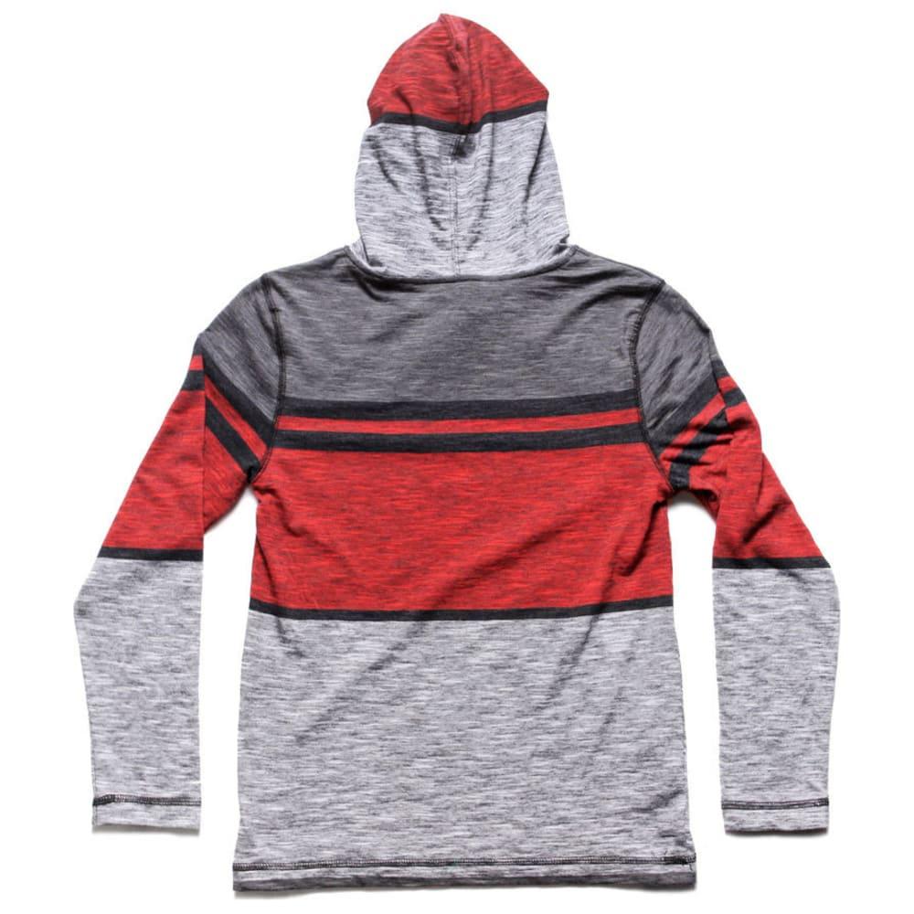 OCEAN CURRENT Boys' Logan Stripe Jersey Popover Hoody - NEW RED