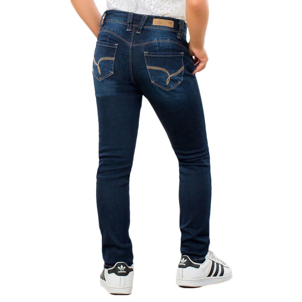 YMI Girls' Wanna Betta Fit Skinny Jeans - S36-DARK WASH