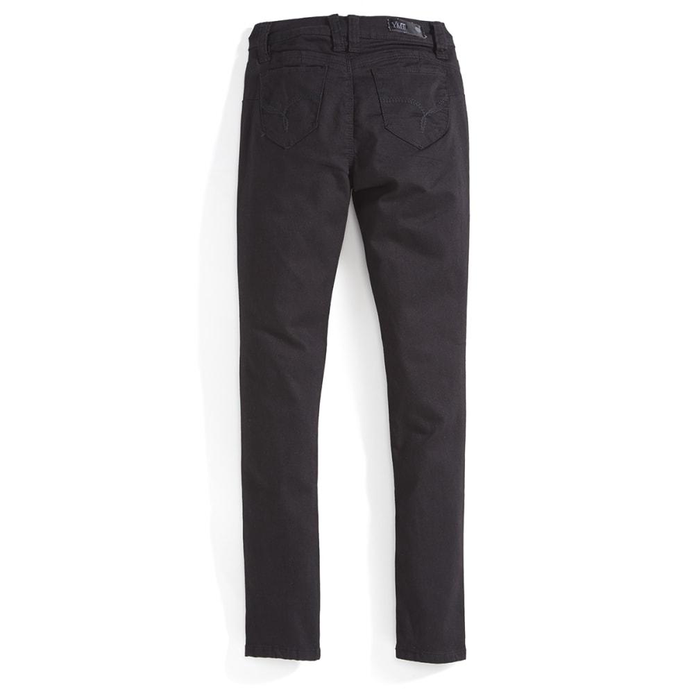 YMI Girls' Wanna Betta Fit Twill Skinny Jeans - BLACK