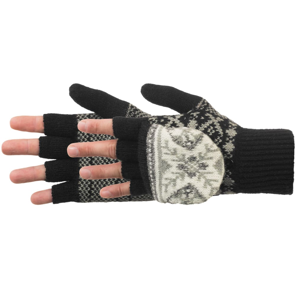 MANZELLA Women's Snow Star Convertible Gloves - BLACK