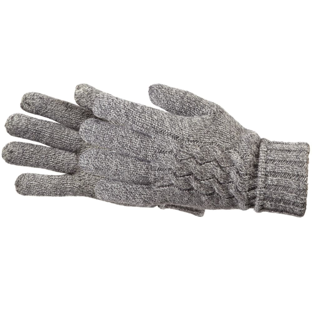 MANZELLA Women's Warmer Cable Knit Gloves - OXFORD HTR GREY
