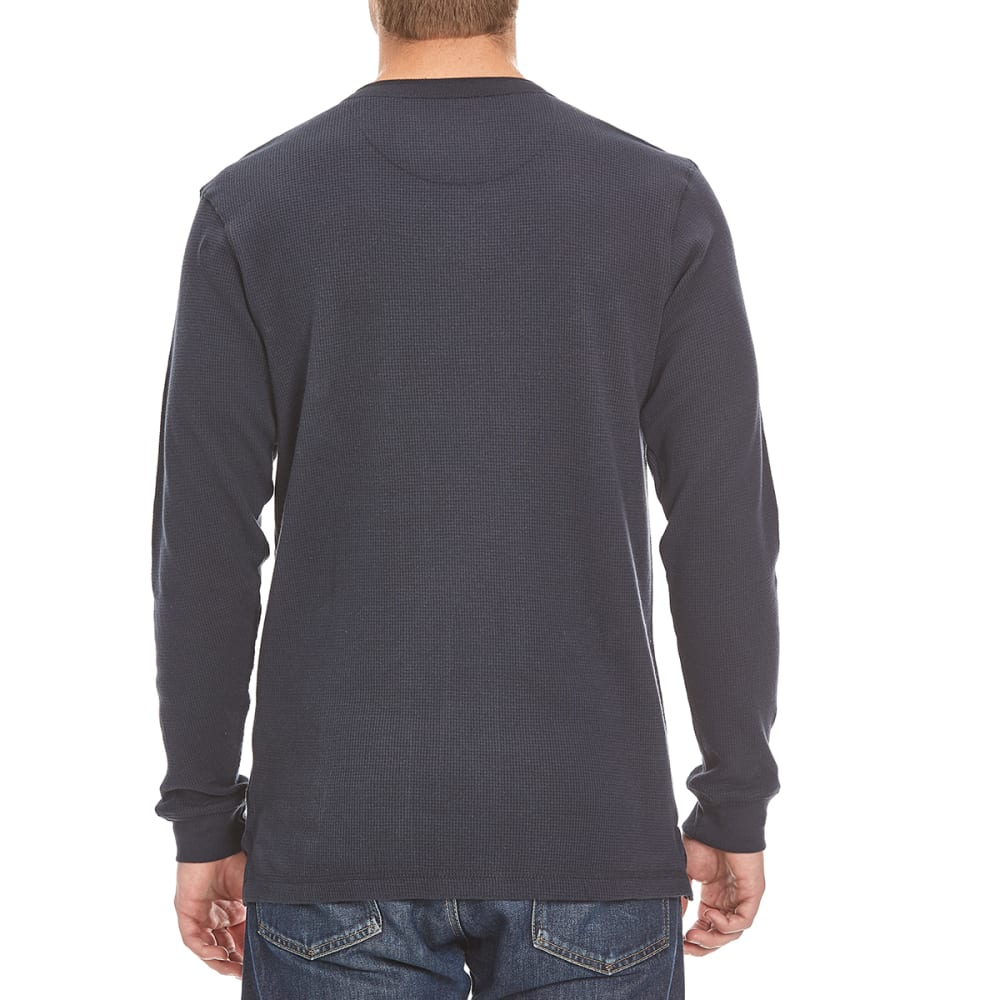 RUGGED TRAILS Men's Thermal Henley Shirt - NAVY