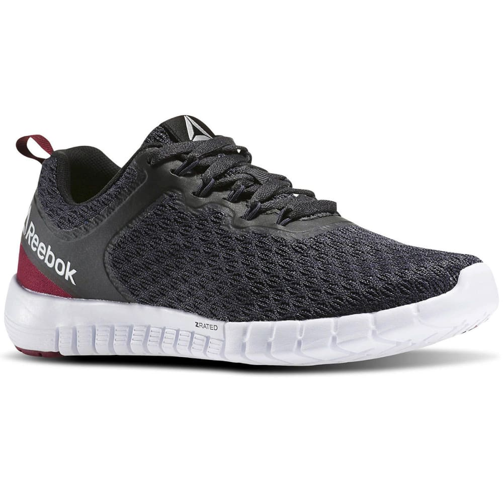 REEBOK Women's ZQuick Lite Running Shoes - BLACK/BERRY/BLK/WHT
