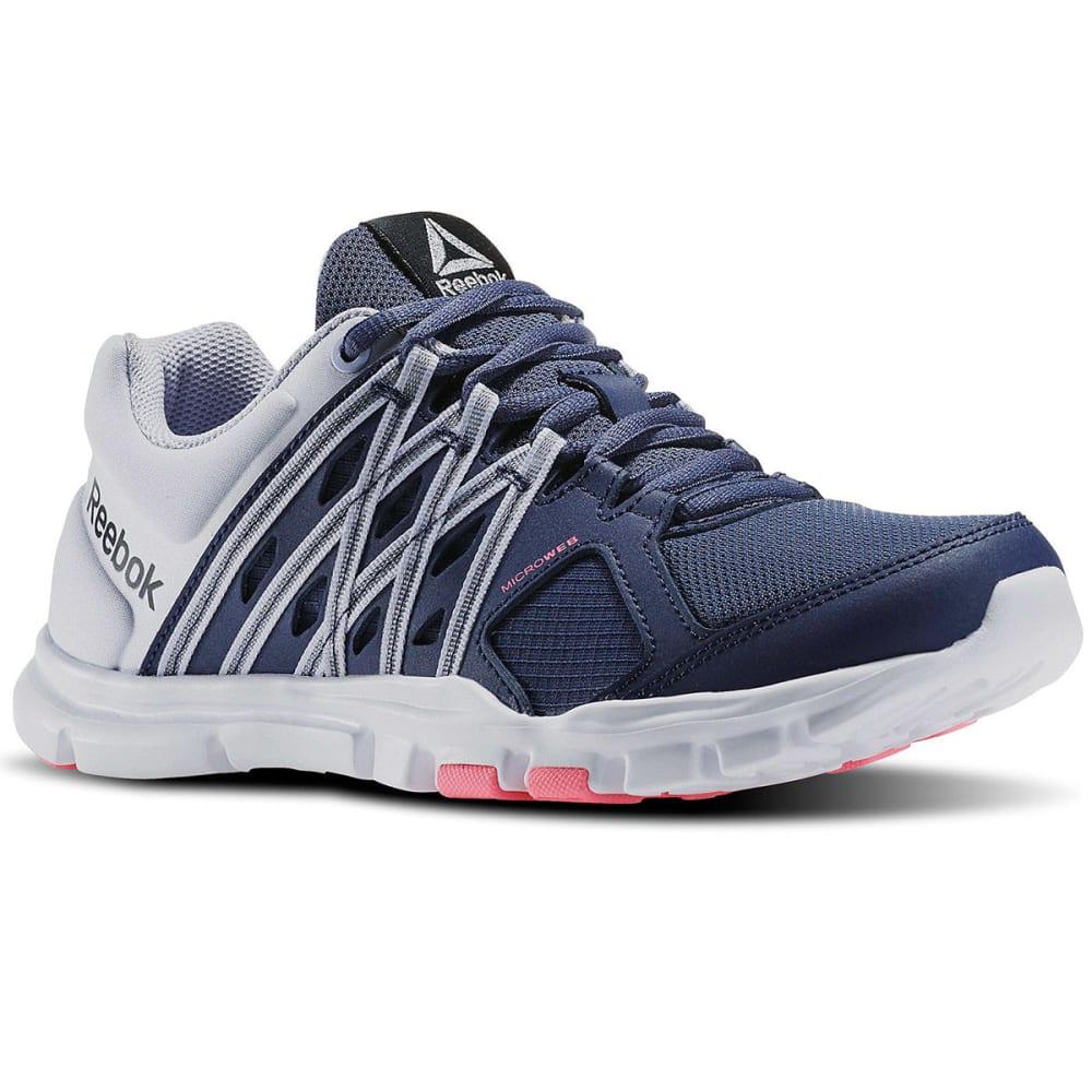 REEBOK Women's Your Flex Trainette 8.0 Cross-Training Shoes - BLUE/LILAC/PINK