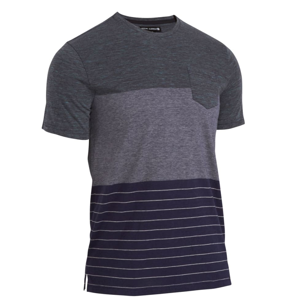 OCEAN CURRENT Guys' Tyrelle Laser Jersey Pocket Tee - INDIGO
