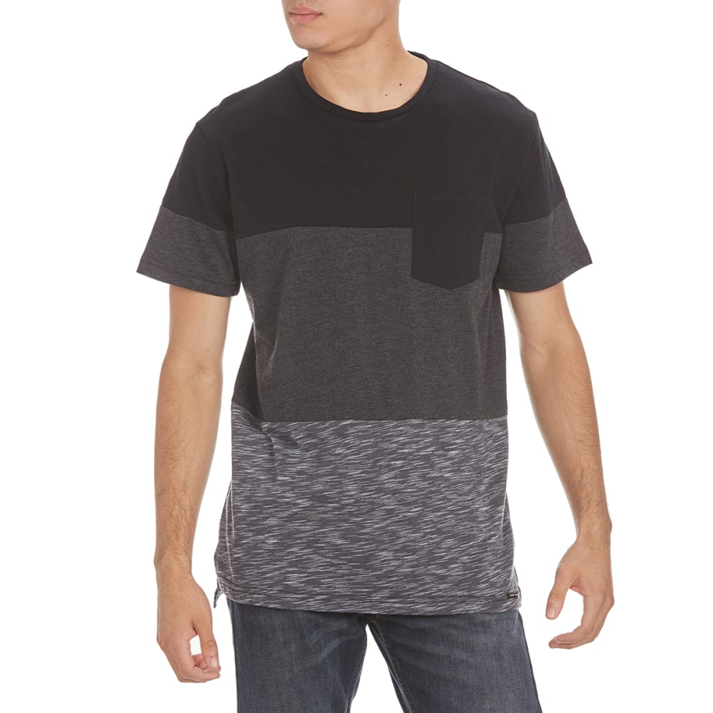 OCEAN CURRENT Guys' DaVinci Laser Pocket Tee - BLACK