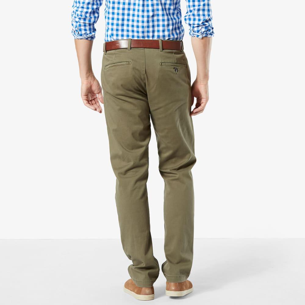 DOCKERS Men's Washed Khaki Slim Fit Tapered Pants - DOCKERS OLIVE 0002