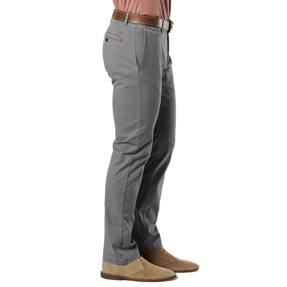 DOCKERS Men's Slim Tapered Fit Washed Khaki Pants - BURMA GREY 0002