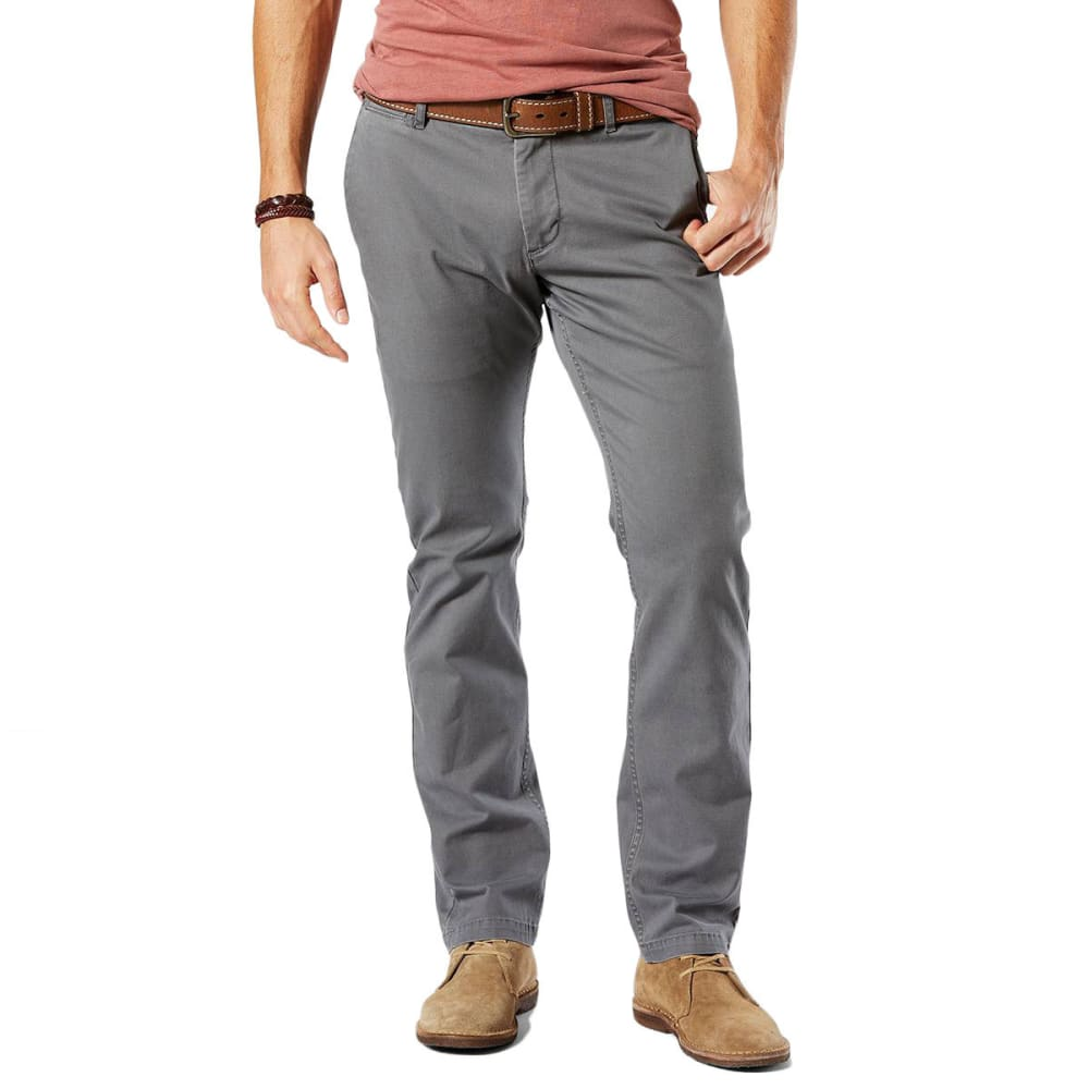 DOCKERS Men's Slim Tapered Fit Washed Khaki Pants 30/30