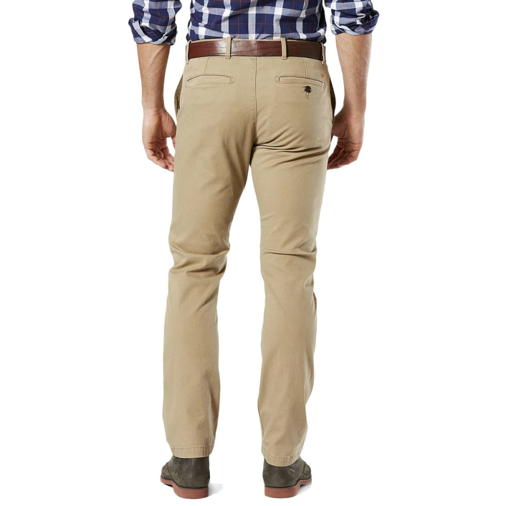 DOCKERS Men's Slim Tapered Fit Washed Khaki Pants - NEW BRIT KHAKI 0001