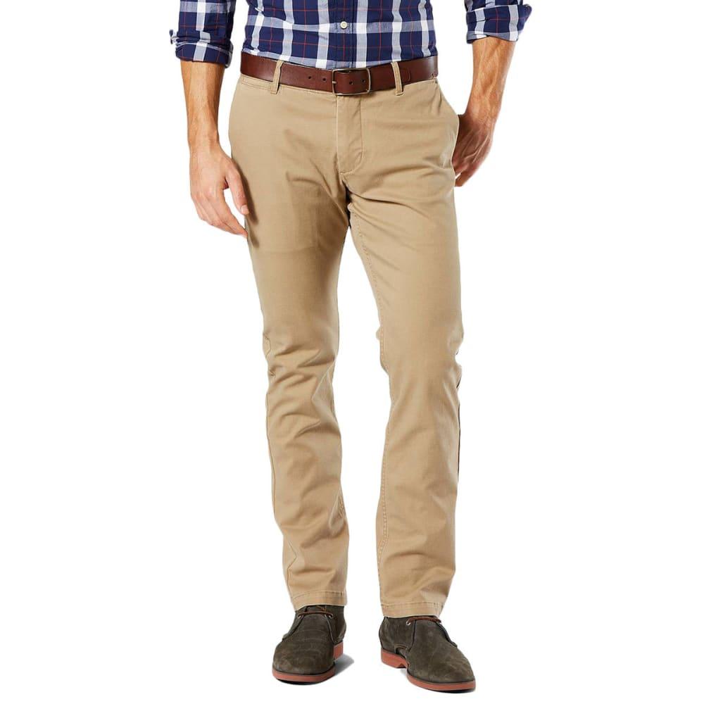 DOCKERS Men's Slim Tapered Fit Washed Khaki Pants - NEW BRIT KHAKI 0001