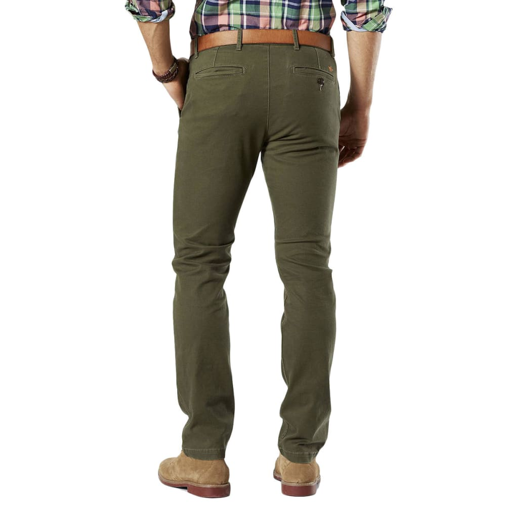 DOCKERS Men's Slim Tapered Fit Washed Khaki Pants - DOCKERS OLIVE 0005