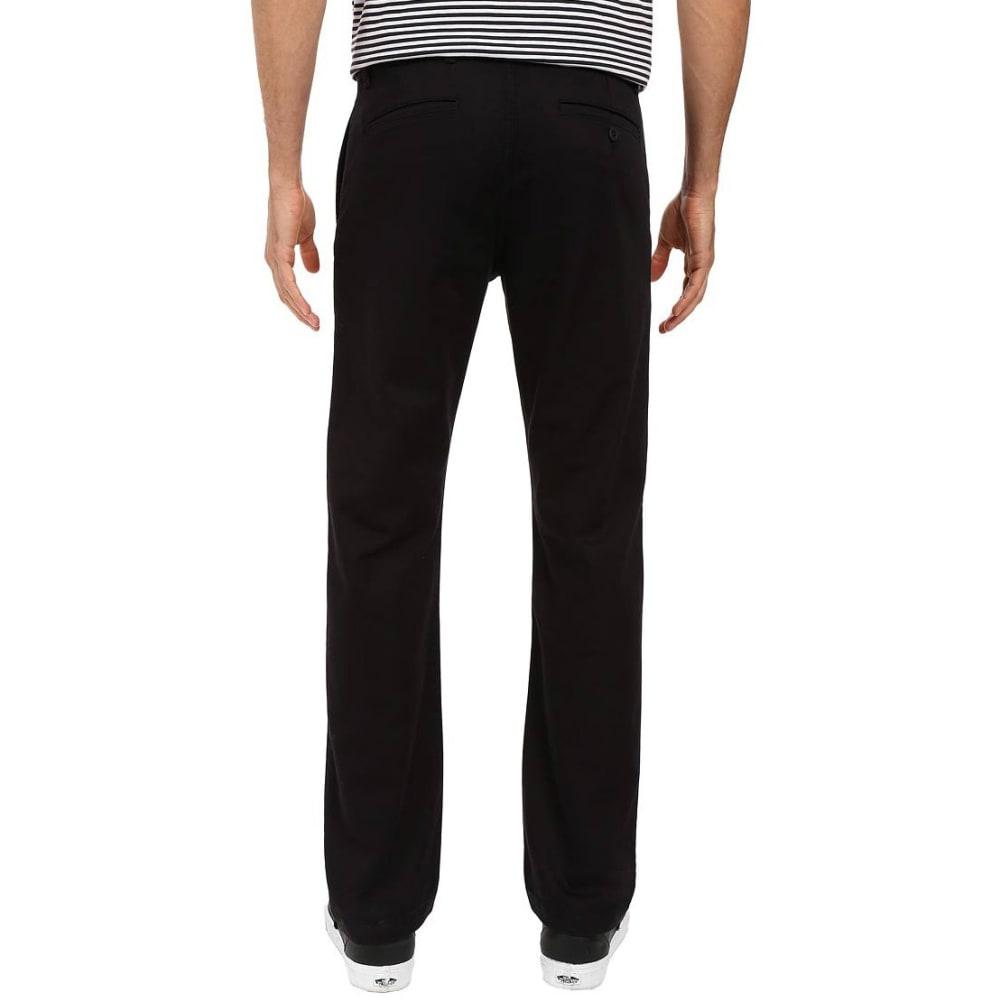 DOCKERS Men's Washed Khaki Slim Tapered Pants - BLACK 0023