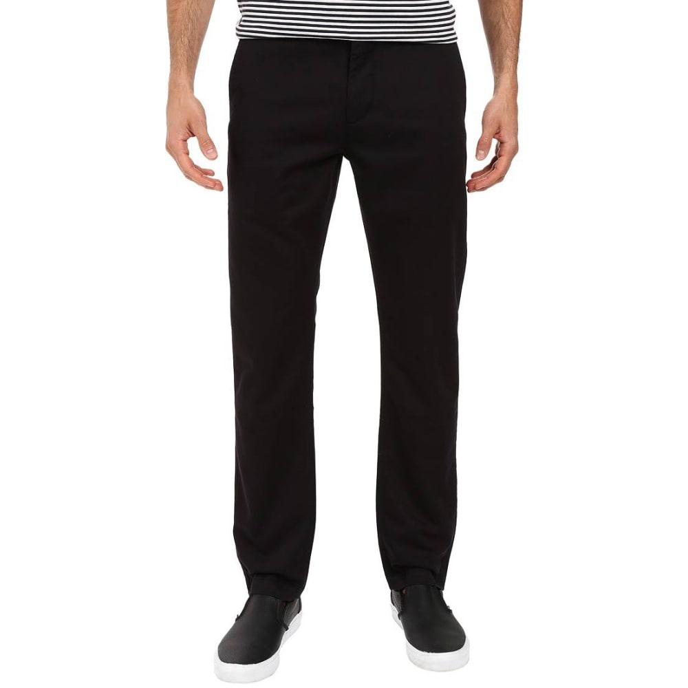 DOCKERS Men's Washed Khaki Slim Tapered Pants - BLACK 0023