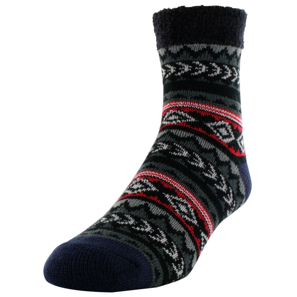 SOF SOLE Men's Fireside Tribal Indoor Socks - TRIBAL NORDIC BLK